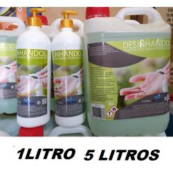 GEL DE MANOS HIDRO-ALCOHOL-SISQUIDA-DESINHANDOL, 5 LITROS