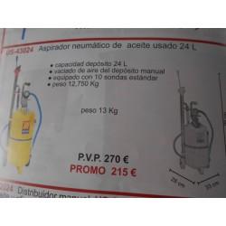 ASPIRADOR NEUMATICO DE ACEITE USADO 24L