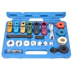 Juego 22 piezas conectores y desconectores de tubos