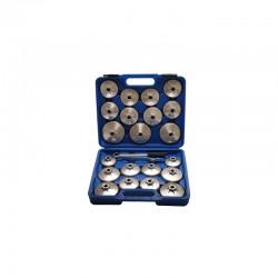 Juego 23 Piezas Cazoletas de Aluminio para Filtros de Aceite