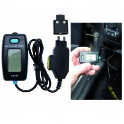 Comprobador de corriente digital para los contactos de los fusibles