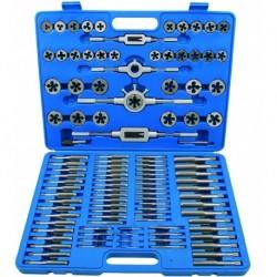 Juego 110 piezas de machos y terrajas M2 - M18